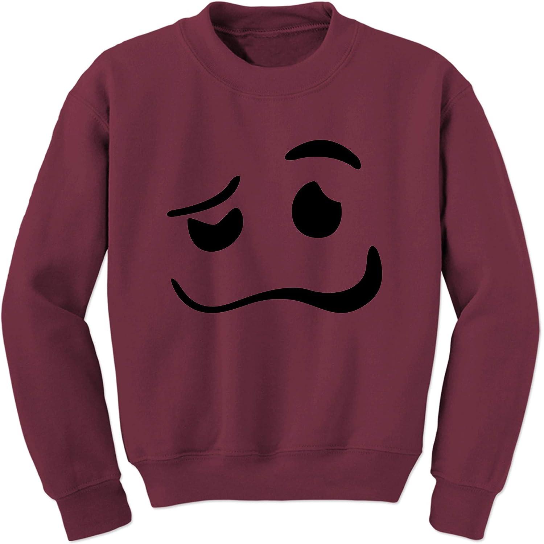 FerociTees Woozy Emoticon SmileyFace Smilely Crewneck Sweatshirt