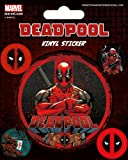 Marvel Deadpool - Stickerset Sticker Aufkleber 10x12,5 cm - Stickerset Sticker Aufkleber mit 5 Sticker