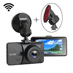 """Dash Cam,1080P FHD Car Driving Recorder DVR 3"""" LCD Screen 170° Wide Angle Dashboard Camera G-Sensor & WDR & Loop Recording & Motion Detection for Cars, by WHOLEV"""