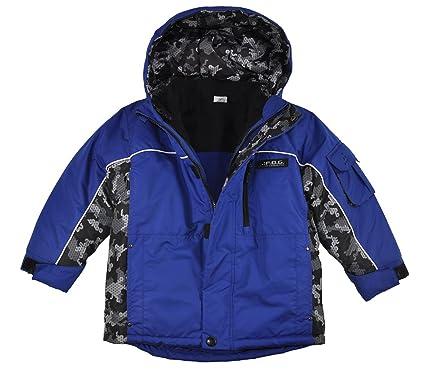 097223b9a619 Amazon.com  London Fog Boys Blue Printed 4 in 1 Outerwear Coat (5 6 ...
