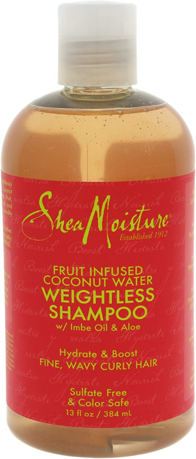 SheaMoisture Fruit Fusion Coconut Water Weightless Unisex Profesional Champú 384ml - Champues (Unisex, Profesional, Champú, Pelo sin vida, 384 ml, Coco, Afrutado)
