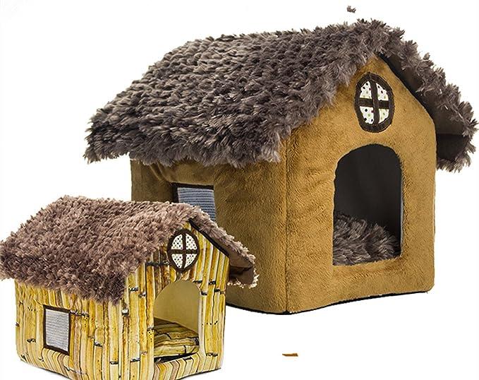 Caseta de peluche de invierno para mascotas, caseta lavable, caseta para perro, caseta para perros pequeños, de Pomerania Bichon: Amazon.es: Productos para ...