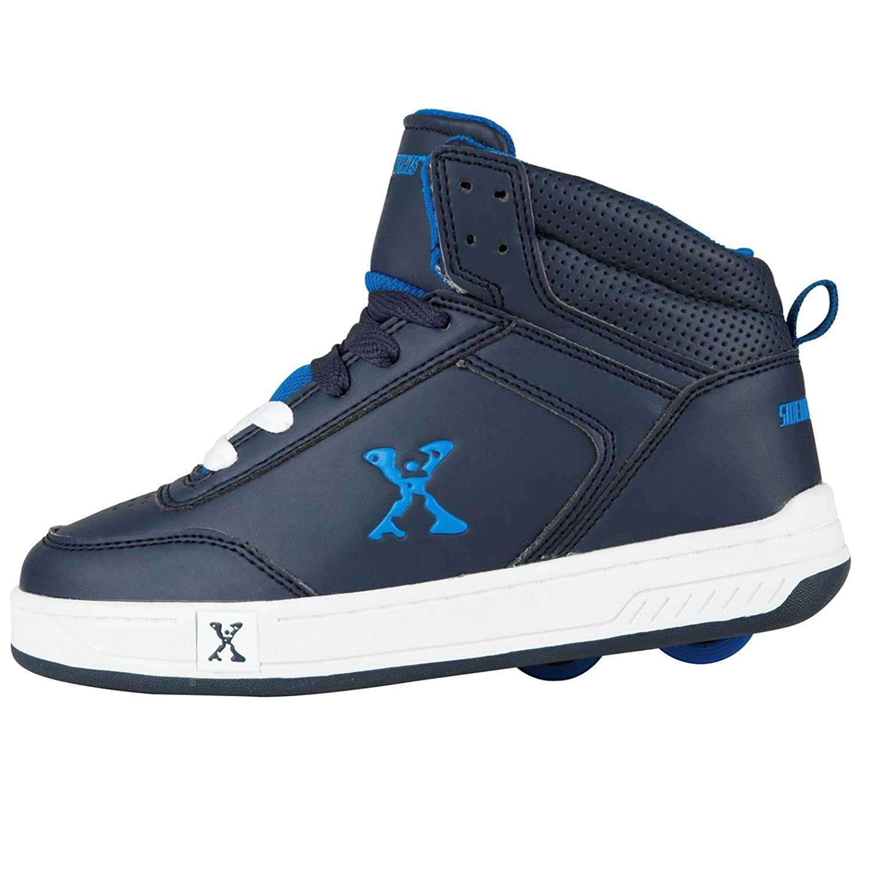 Sidewalk sport lane roller skate shoes - Sidewalk Sport Kids Hi Top Childrens Boys Skates Heelys Lace Up Sport Trainers Navy Blue Uk 1 Amazon Co Uk Shoes Bags