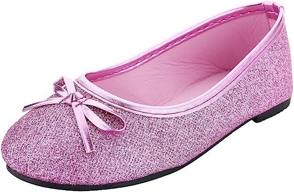 Miss-Pink//Purple Gliter Girls Princess Jelly Flats 7