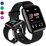 Smart Band Fitness Tracker Watch Heart Rate with Activity Tracker Waterproof Body Functions Like Steps Counter, Calorie Counter, Blood Pressure, Heart Rate Monitor LED Touchscreen …