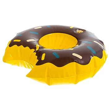 100 x Donut Aufblasbar Getränkehalter Badespielzeug Flaschenhalter Dosenhalter Kinderbadespaß