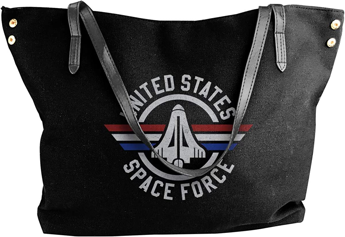 Unites States Space Force Womens Tote Bags Canvas Shoulder Bag Casual Handbags