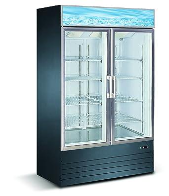 Amazon Eq Kitchen Line Black Commercial 2 Glass Door Reach In