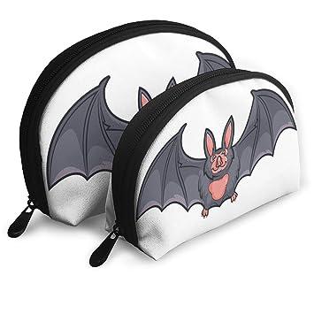 b427c5bb7d6e Amazon.com : Makeup Bag Bat Portable Half Moon Cosmetic Bags Holder ...