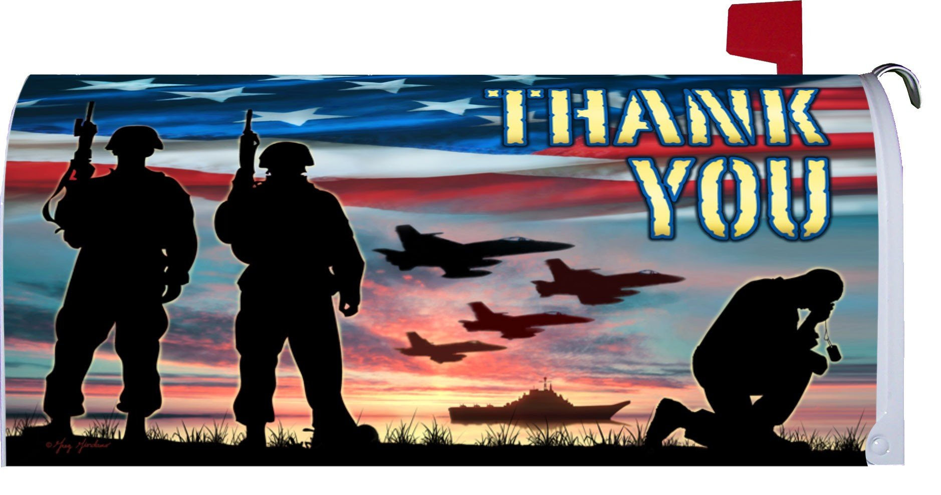 Thank You United States Military - Decorative Mailbox Makeover Cover Made in the USA