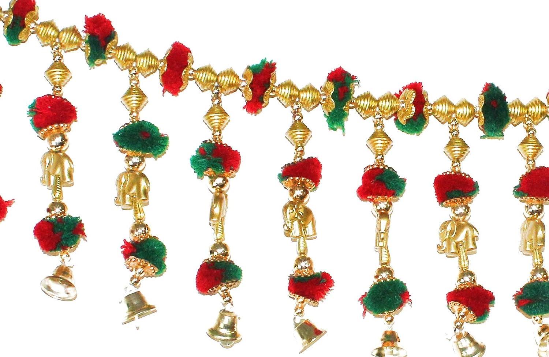 73f53356994 Buy BANSURI Multicolour Attractive and Beautiful toran bandarbar bandarwal  for Main Door Temple Door Online at Low Prices in India - Amazon.in