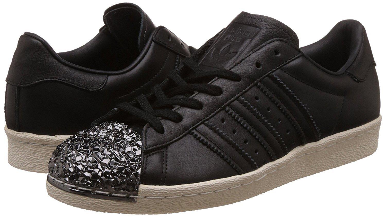adidas Originals Women's Superstar Metal Toe W Skate Shoe B06WLKTDF5 7.8 B(M) US|Core Black/Off White