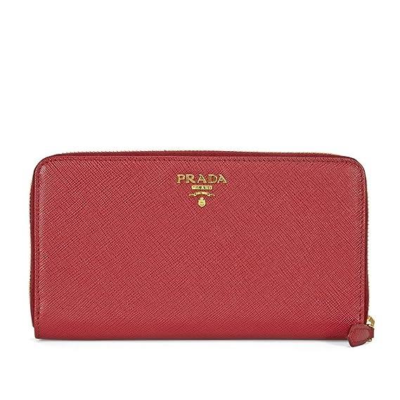 8a01fa4f9307 Prada Bi-fold Zip Saffiano Leather Continental Wallet - Fuoco: Amazon.ca:  Watches