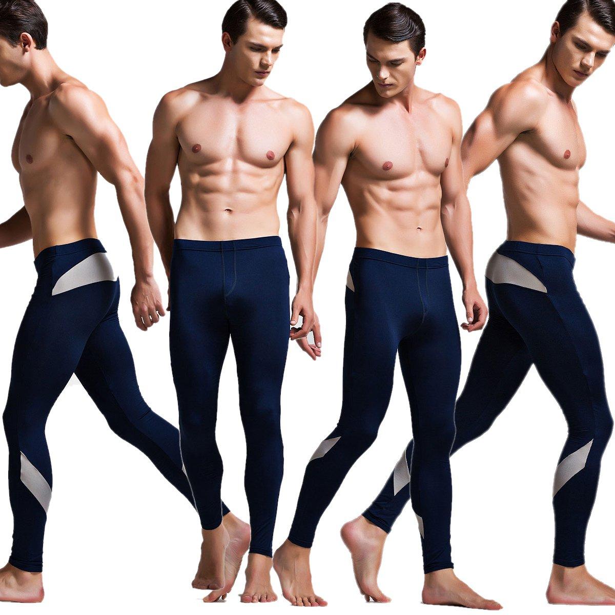 Yeke Men Long Johns Cotton Warm Thermal Underwear Solid Soft Underpants SP01