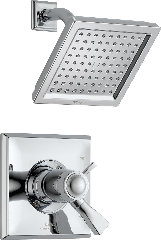 delta t17t251 dryden tempassure 17t series shower trim chrome shower kits amazoncom