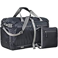 FATMUG Foldable Duffel Luggage Bag for Travel, Packing and Storage - Men and Women - (45 L,Black)