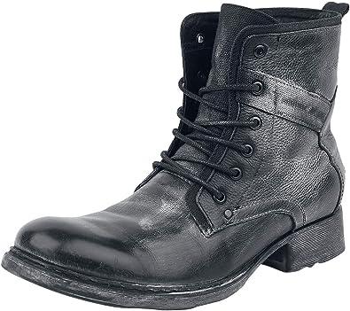 Black Premium by EMP Road Man Hombre Botas Moteras Negro EU46, Piel, Regular: Amazon.es: Zapatos y complementos