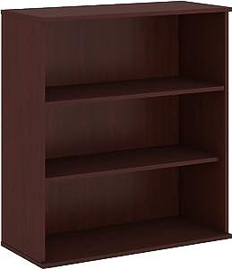 Bush Business Furniture 48H 3 Shelf Bookcase in Harvest Cherry