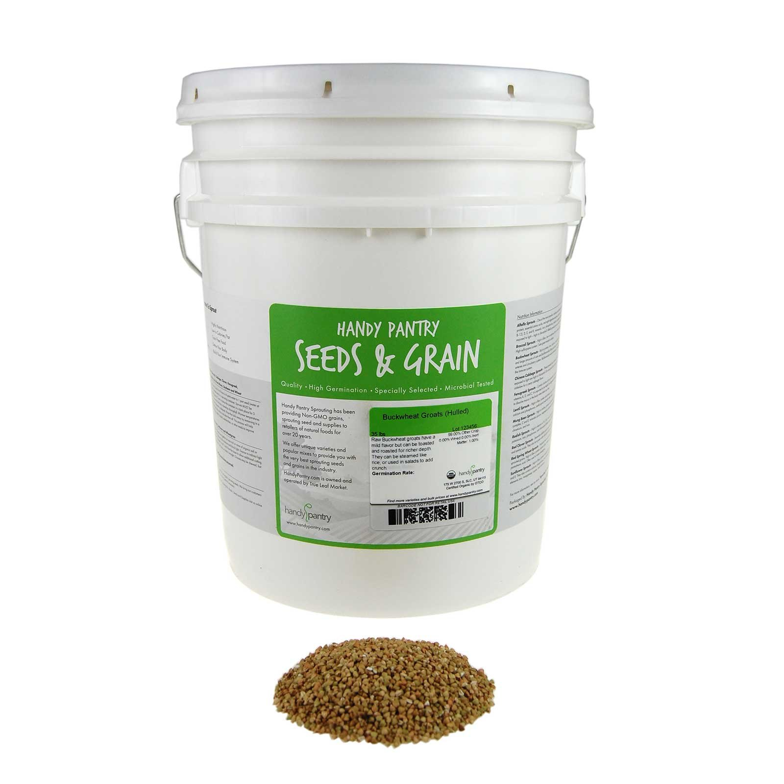Organic Buck Wheat Groats- Hulled Buckwheat Seeds- 30 Lbs- Use for Sprouting Seed, Gardening, Planting, Edible Seeds, Emergency Food Storage