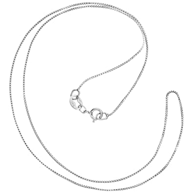 """14k Fine Yellow Gold 0.5mm Wide 18/"""" Box Chain Necklace with Spring Ring Clasp"""