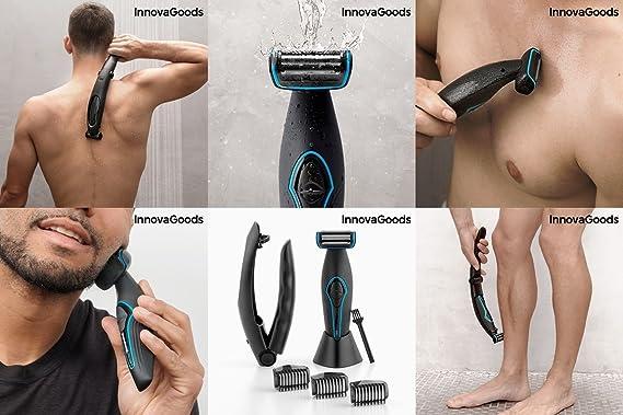 GKA Wellness Cuerpo afeitadora para hombres, con mango plegable ...