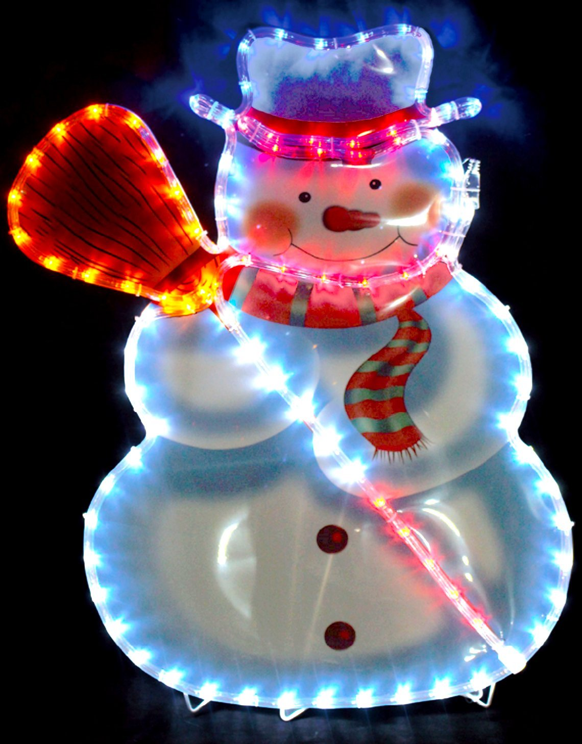 Snow Man Christmas 74 x 51cm Rope Light LED Indoors & Outdoors Festive Large Decoration Quickdraw
