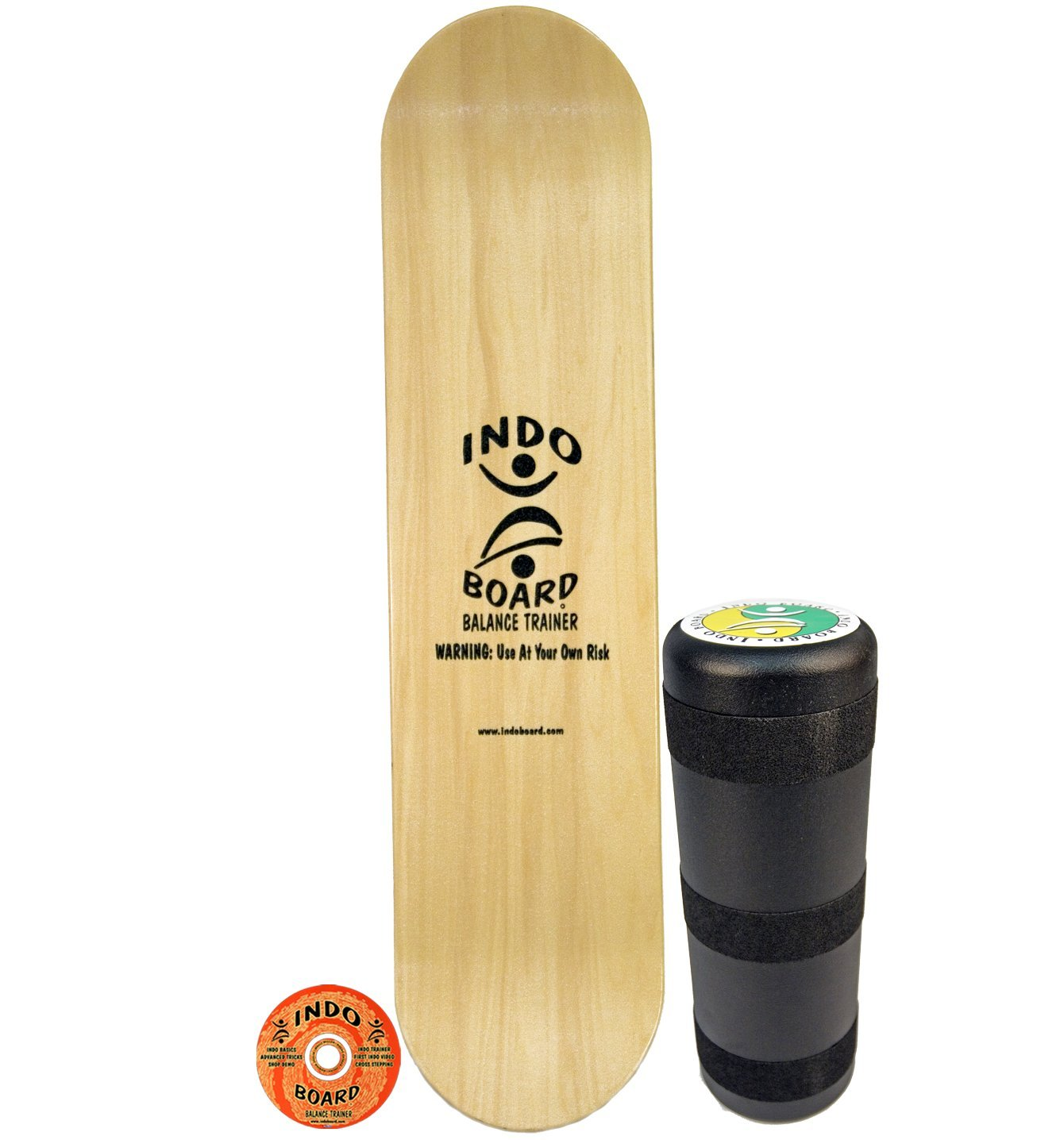 INDO BOARD Kicktail Pro Advanced Balance Board for Surfers, Skaters, Wakesurfers, Snowboarders - 39'' Long Deck with 6.5'' Roller by INDO BOARD (Image #1)