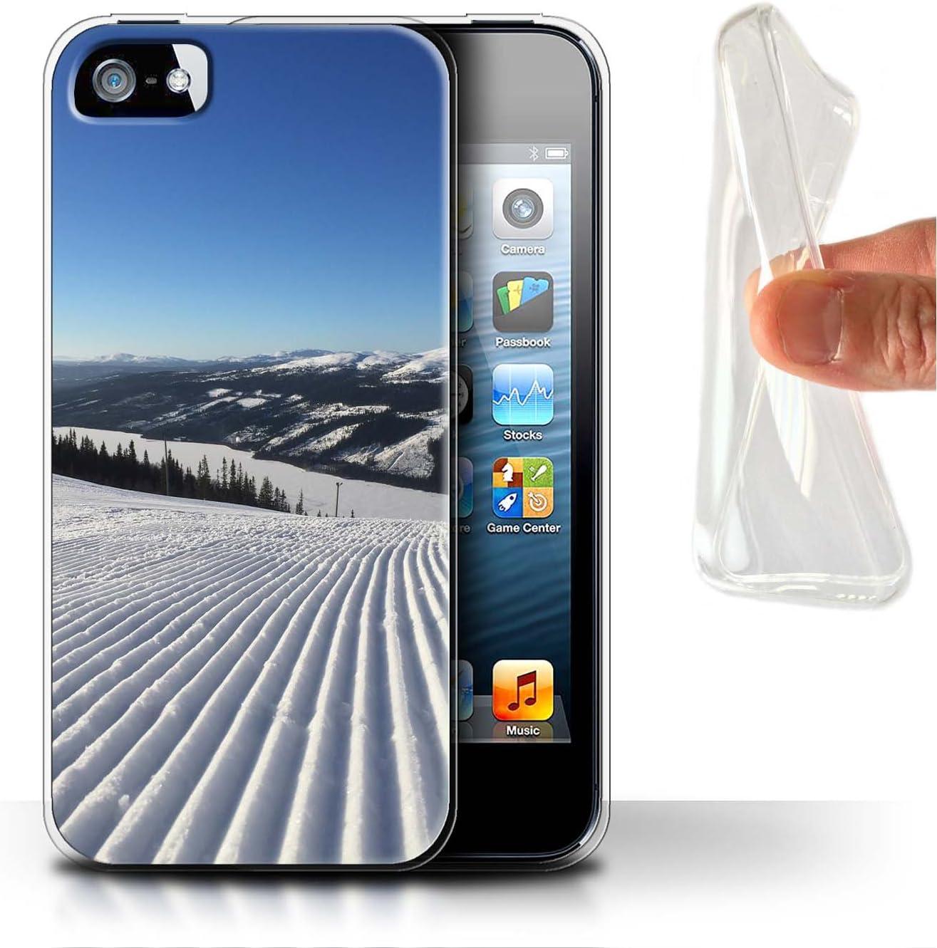 Gel Apple iPhone X//10 STUFF4/Phone Case//Cover//Skin//IP-gc//esqu/í Collection Snowy Scenery