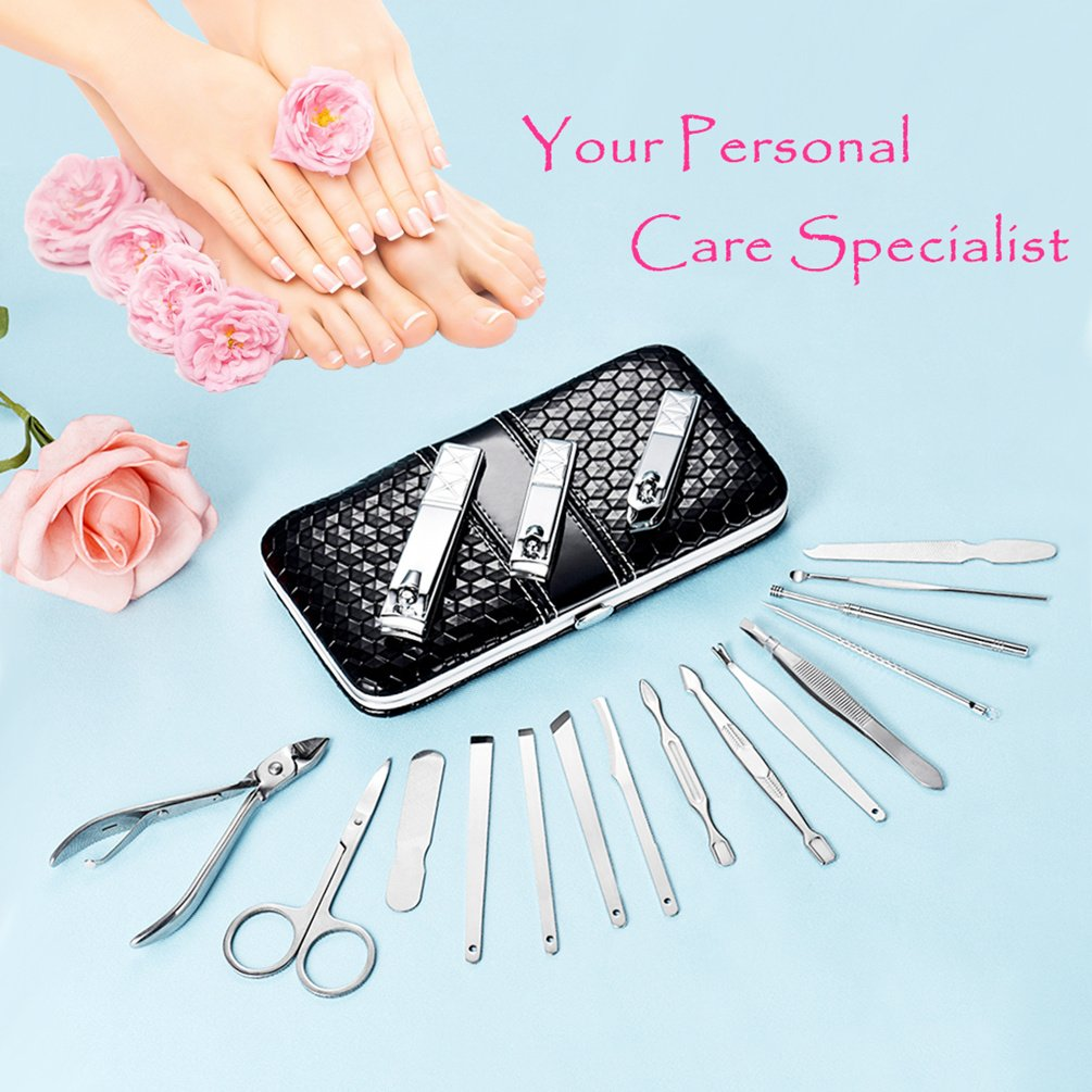 Amazon.com : Nail Clippers Set Manicure Pedicure Kit Stainless Steel ...