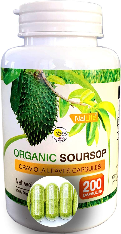 NalLife Organic Soursop Graviola Leaves 200 Capsules