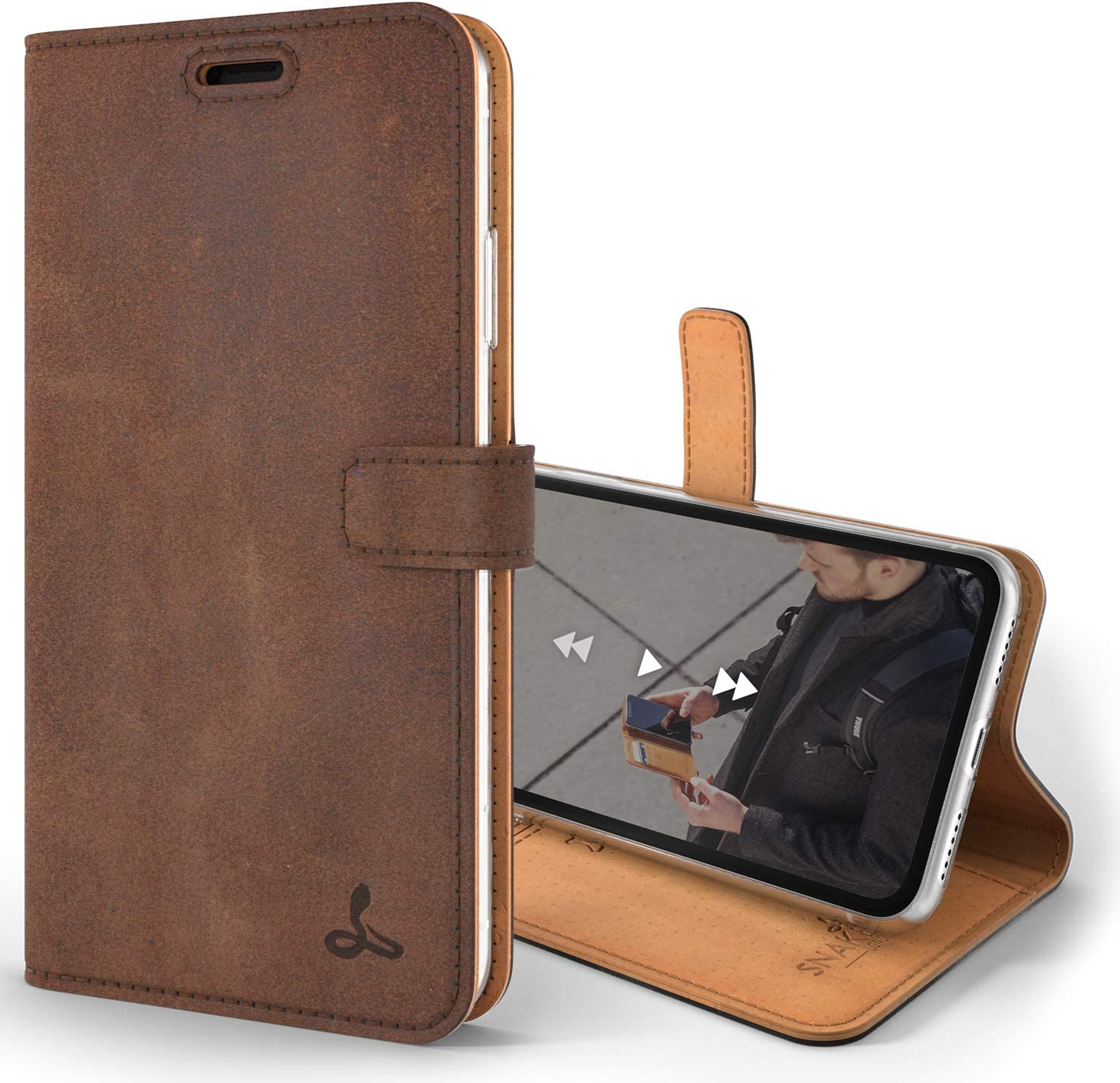 Cell phone folding Cherry Red Leather Case//Android//Apple