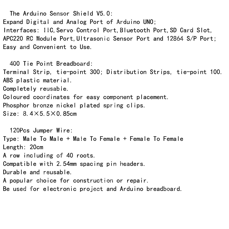 Ast Works For Arduino Uno R3 Mega Sensor Shield V50 400 P Sd Card Wiring Breadboard 120x Jumper Wire M F Industrial Scientific