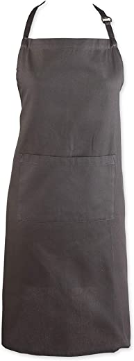 DII Everyday Basic Kitchen Collection, Chef Apron, Mineral Gray