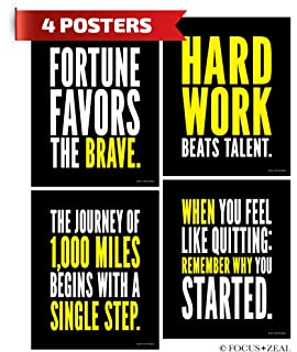 Hard Work Inspirational Posters Motivational Success Determination And Goals Quotes 8x10 Inch