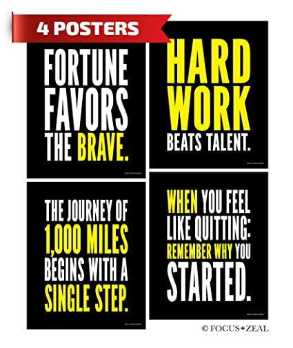 Amazon Hard Work Inspirational Posters Motivational Success