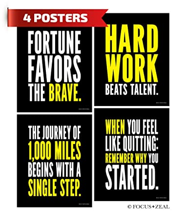 Amazon Hard Work Inspirational Posters Motivational Success