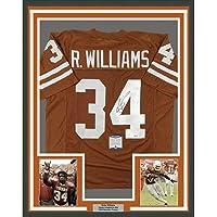 $399 » Framed Autographed/Signed Ricky Williams 33x42 Texas Orange College Football Jersey Beckett BAS COA