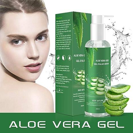 Aloe Vera Gel - 100% Bio für Gesicht Haare Körper, Feuchtigkeitscreme für Sonnenbrand Reparieren,Natürliche Feuchtigkeitspfle