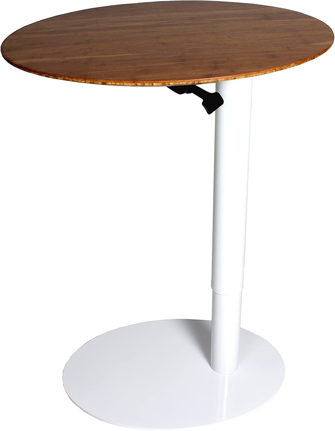 """Powder-Coated Steel Base and Environmentally Friendly Bamboo Tabletop Frasch 26/""""x20/"""" Oval Height Adjustable Caf/é//Bar Table Gas Piston"""