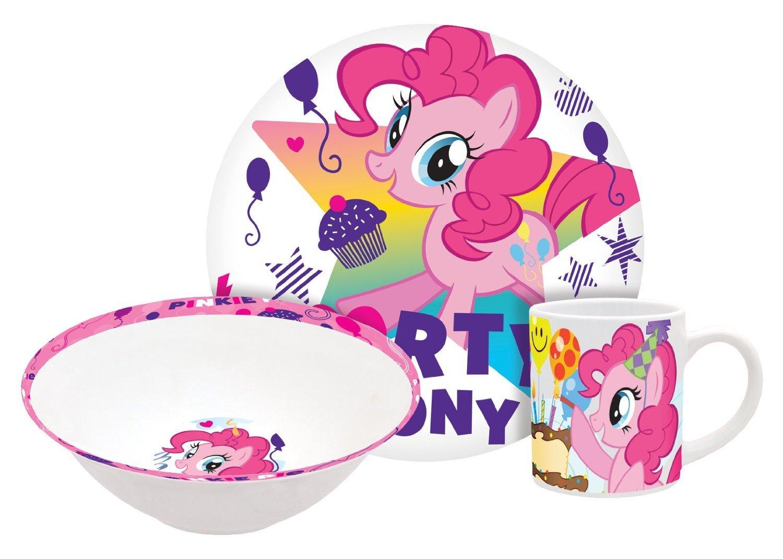 My Little Pony Pinkie Pie 3 Piece Ceramic Plate, Bowl & Mug Set