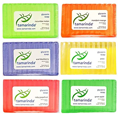 tamarinda Glycerin Soap – 6 Bar Fruit Collection