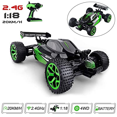 Rc Cars High Speed Vehicle 1:18 Scale 2.4Ghz 4WD Eletric rc Cars Off Road Dune Buggy Remote Control Vehicle with 1 Rechargeable Battery: Toys & Games