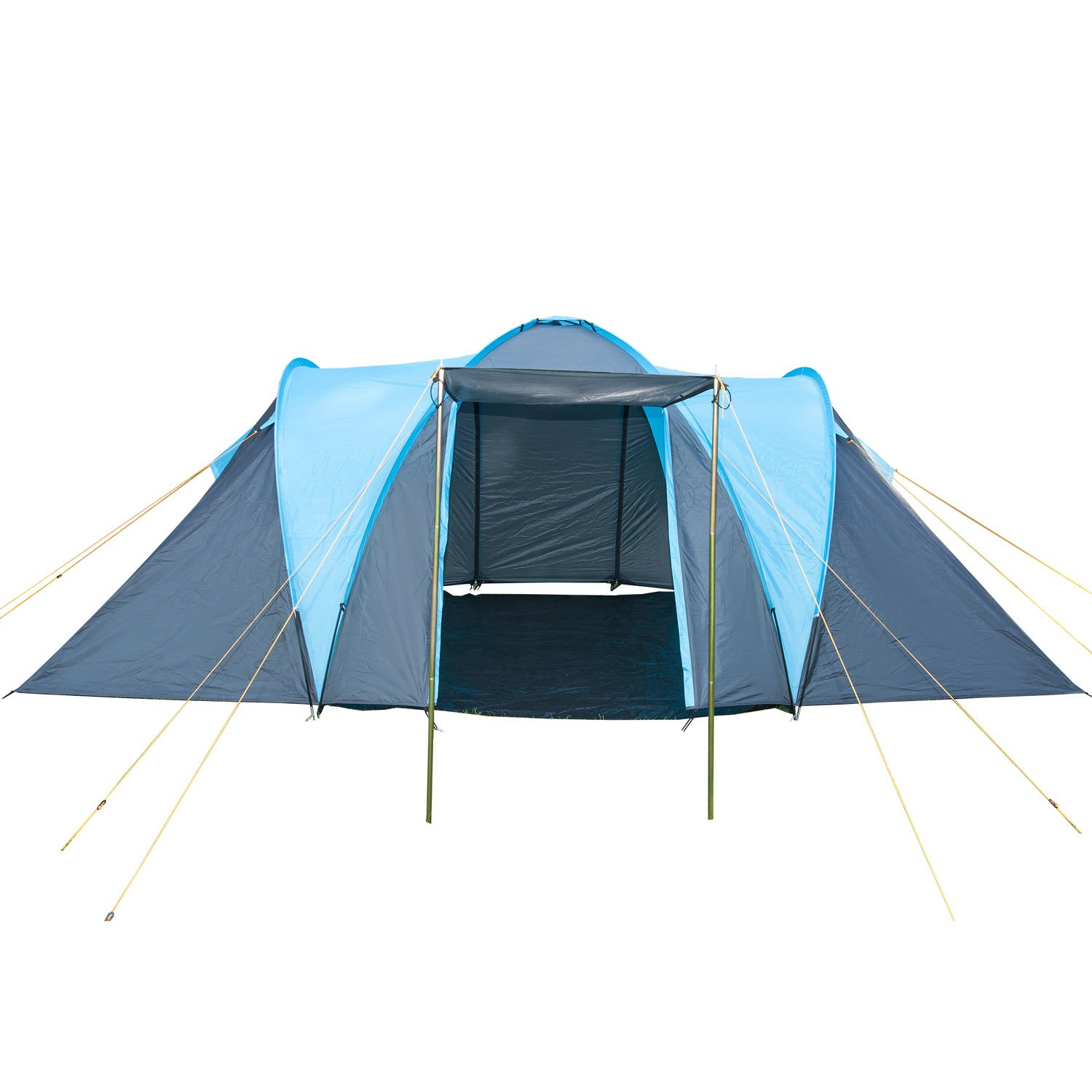 Skandika Hammerfest Family Dome Tent with 2 Sleeping Cabins 200 cm Peak Height Blue  sc 1 st  Amazon UK & Kingfisher Unisex 2 Bedroom Camping Tent Blue 4 Persons: Amazon ...