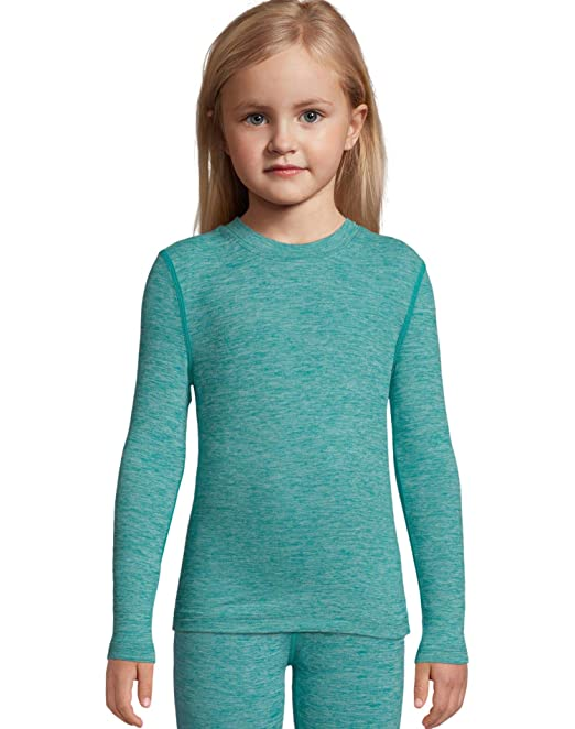 b17cadf4b Hanes Girl's X Temp Space Dye Thermal Top: Amazon.ca: Clothing & Accessories