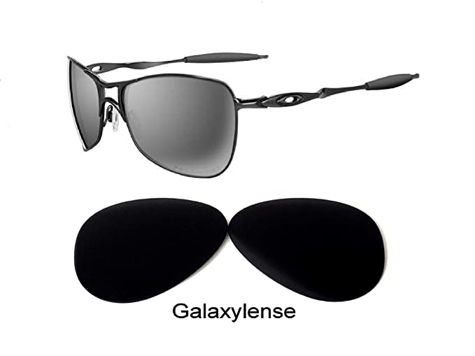 3210b746b2 Amazon.com  Galaxy Replacement Lenses for Oakley Crosshair 1.0 Black  Polarized