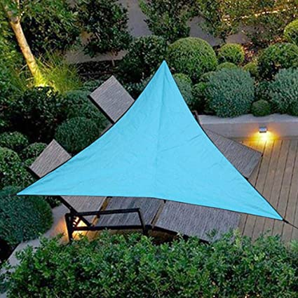 LIMMC Vela UV Bloque de Sun de la Vela de Sombra para el jardín del Patio al Aire Libre Patio de la Cubierta Superior, Azul 6x6x6m: Amazon.es: Coche y moto