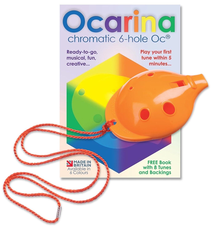 Ocarina Workshop del agujero del Ocarina OC 4 en naranja