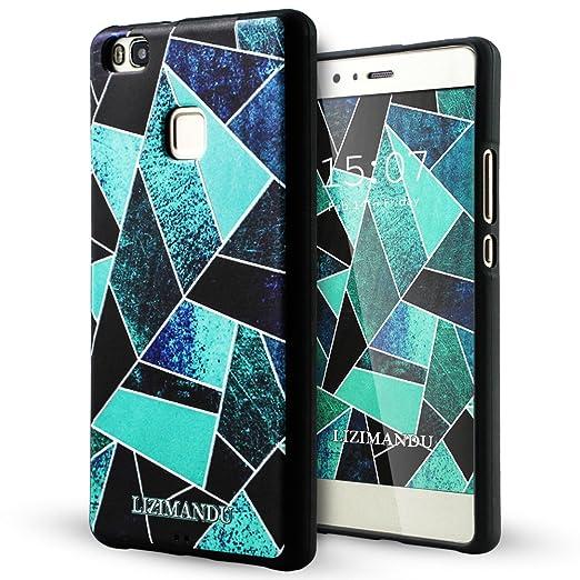 61 opinioni per Huawei P9 Lite Cover,Lizimandu Creative 3D Schema UltraSlim TPU Copertura Della