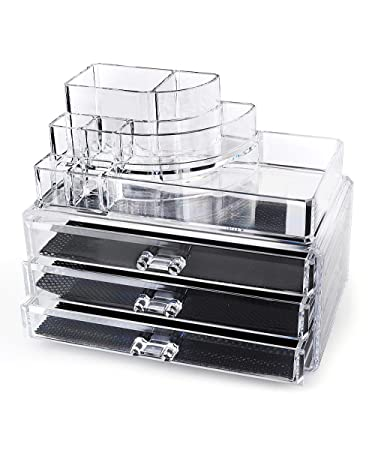 Amazoncom Homeit Clear Acrylic Makeup Organizer Cosmetic - Acrylic makeup organizer
