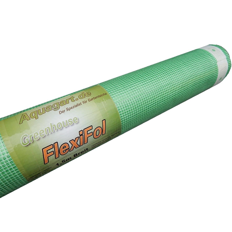 6m Gewächshausfolie Gitterfolie Frühbeetfolie Gartenfolie 250g 4m breit grün